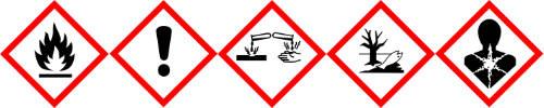 Gefahrensymbole JBL Testkoffer ProAquatest Combiset