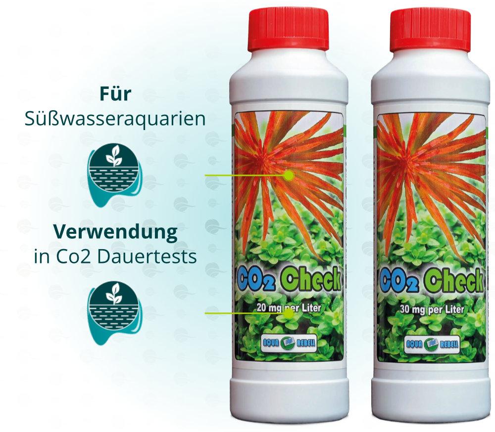 Dieses Bild zeigt die Aqua Rebell CO2 Check 250 ml Verwendungsbereiche