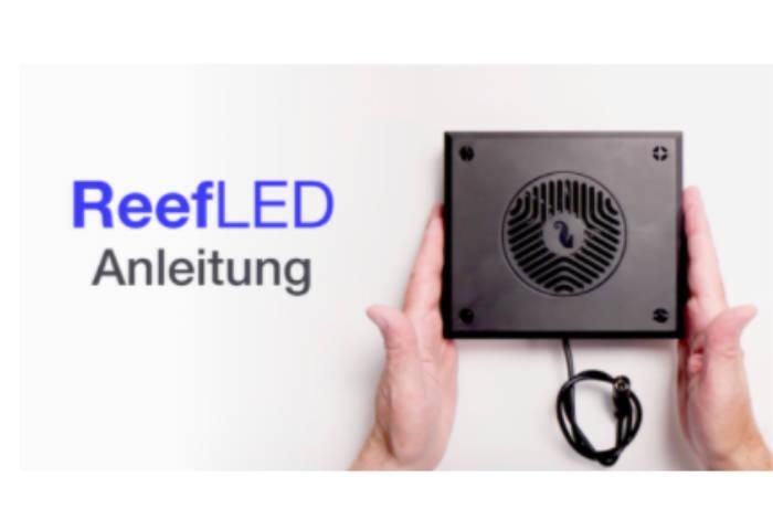 Bild zeigt den Zugang zur Video-Anleitung der ReefLED 160S
