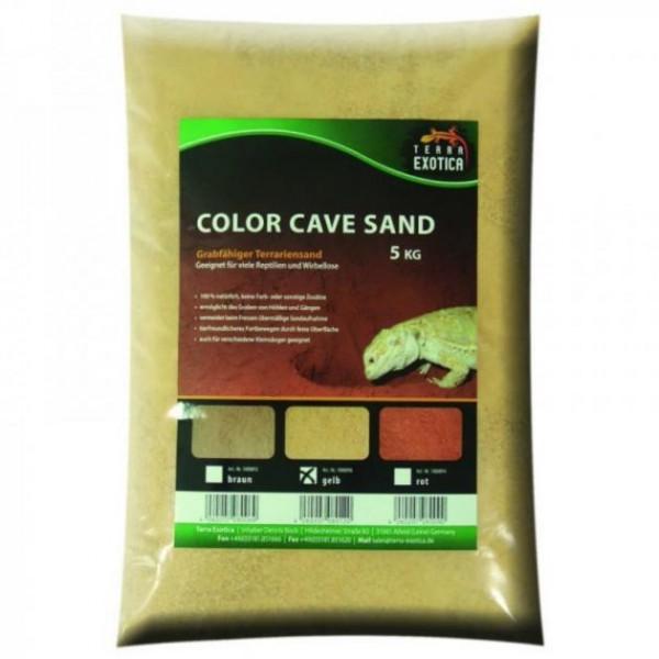 Terra Exotica Color Cave Sand - gelb 5 kg grabfähig