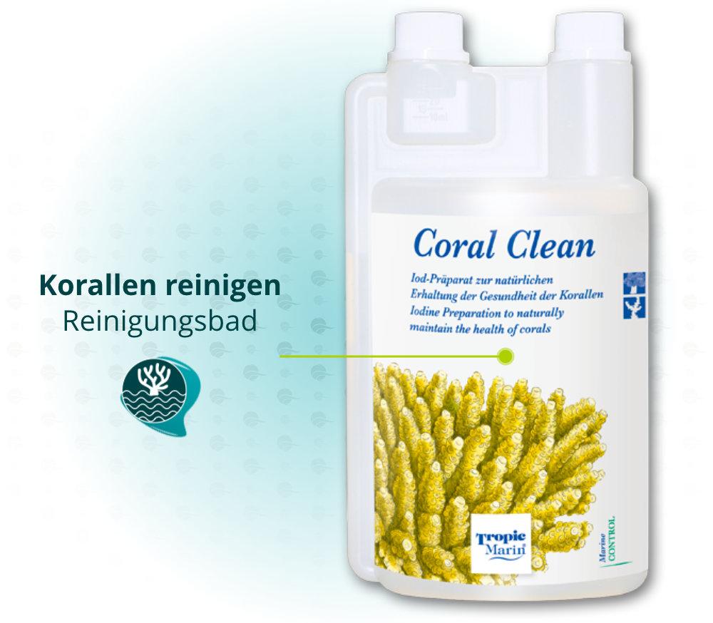 Dieses Bild zeigt den Vorteil von Tropic Marin Coral Clean