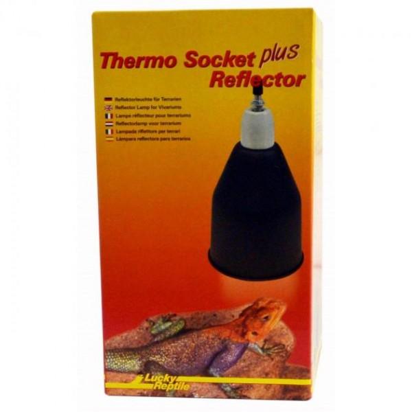 Lucky Reptile Thermo Socket + Reflector groß ,(schwarz)