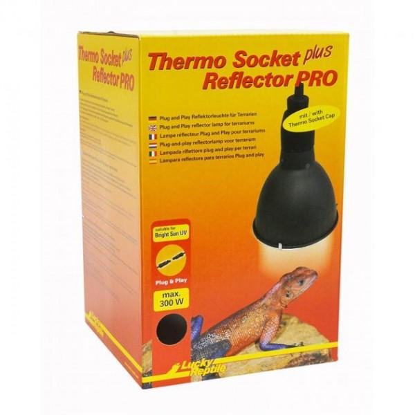 Lucky Reptile Thermo Socket + Reflector PRO lang ,(schwarz)