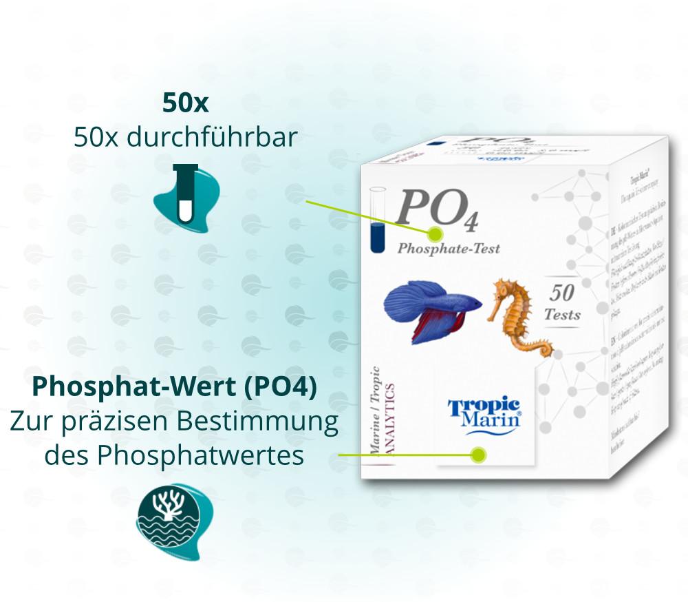 Dieses Bild zeigt die Vorteile von Tropic Marin Phosphat-Test