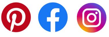Symbole Facebook, Instagramm und Pinterest