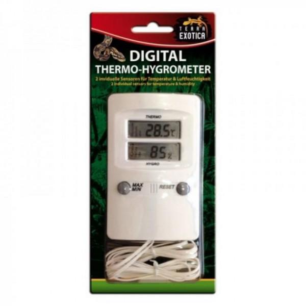 Terra Exotica Digital Thermo-/ Hygrometer mit 2 Fühlern