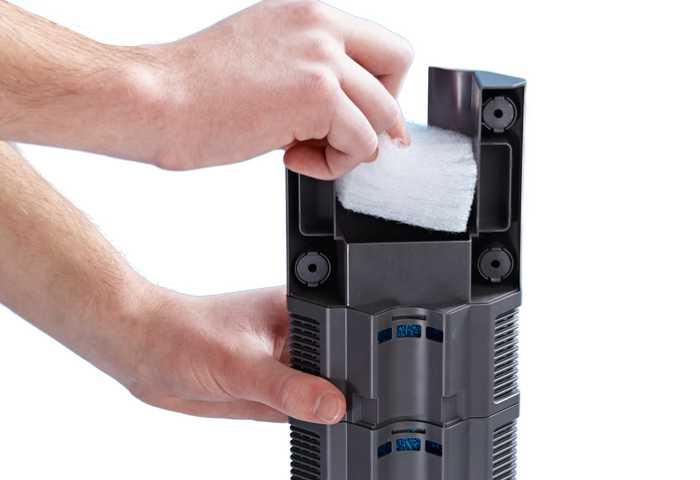 Oase BioPlu Aquarium Innenfilter besitzt eine extra Filterkammer